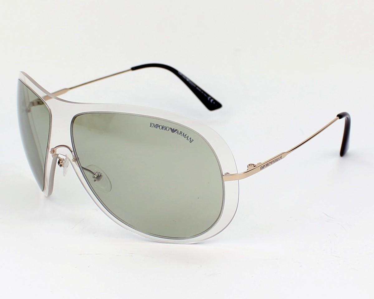 2e4314ed9f85 Sunglasses Emporio Armani EA-9720-S D7IT1 - Clear Gold profile view