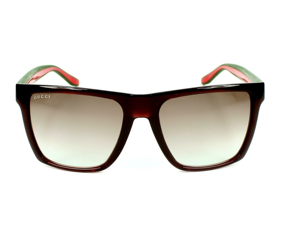 3121efcd01f thumbnail Sunglasses Gucci GG-3535-S 5D6 5M - Brown front view