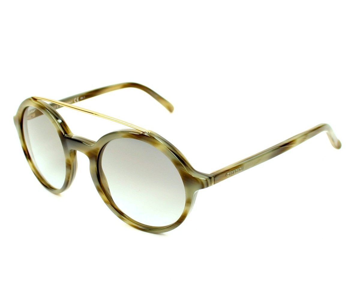ac74ac203f thumbnail Sunglasses Gucci GG-3602-S 145 KR - Horn Olive profile view