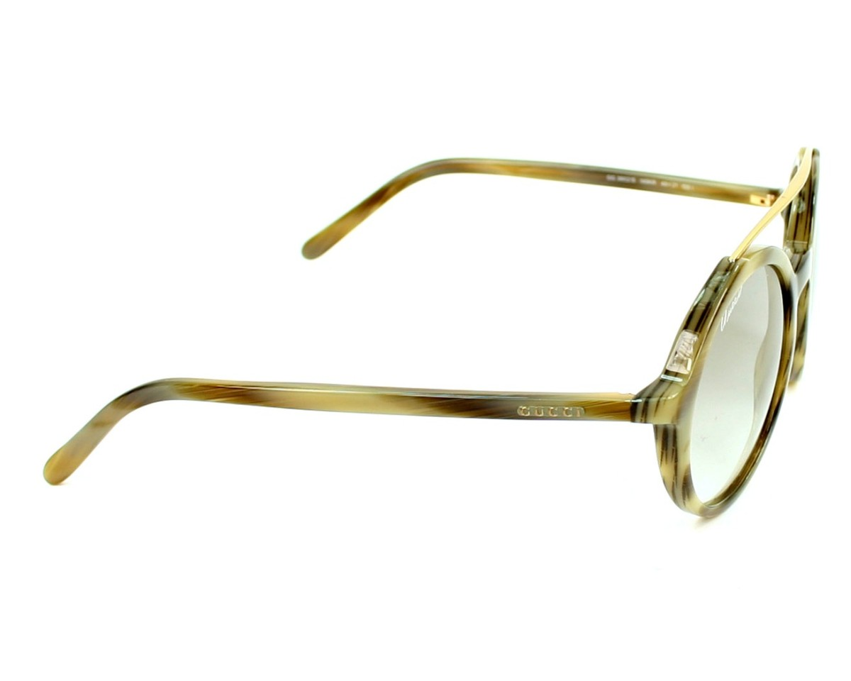 562682ad1b thumbnail Sunglasses Gucci GG-3602-S 145 KR - Horn Olive side view