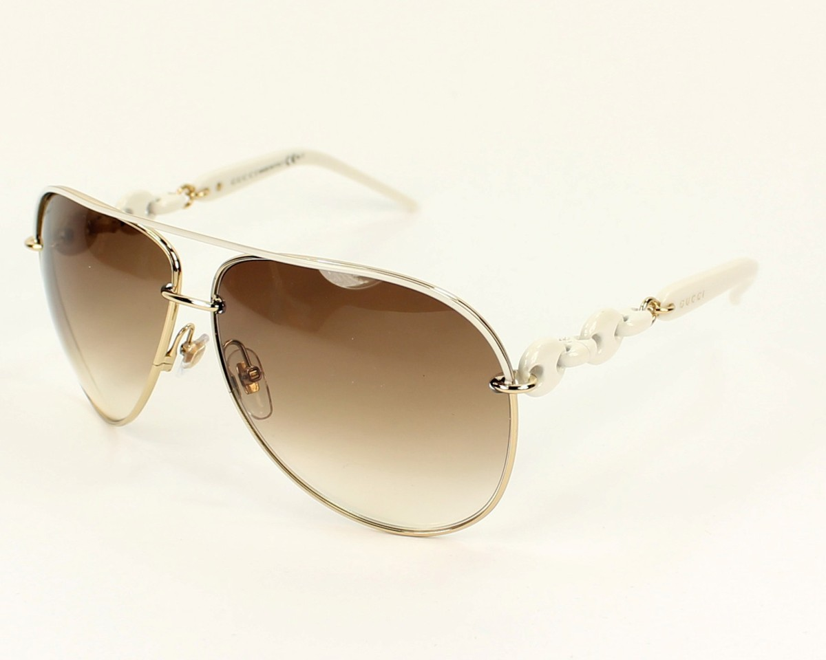 56f0e13d45ab4 thumbnail Sunglasses Gucci GG-4225-S WQC 42 - White Gold profile view