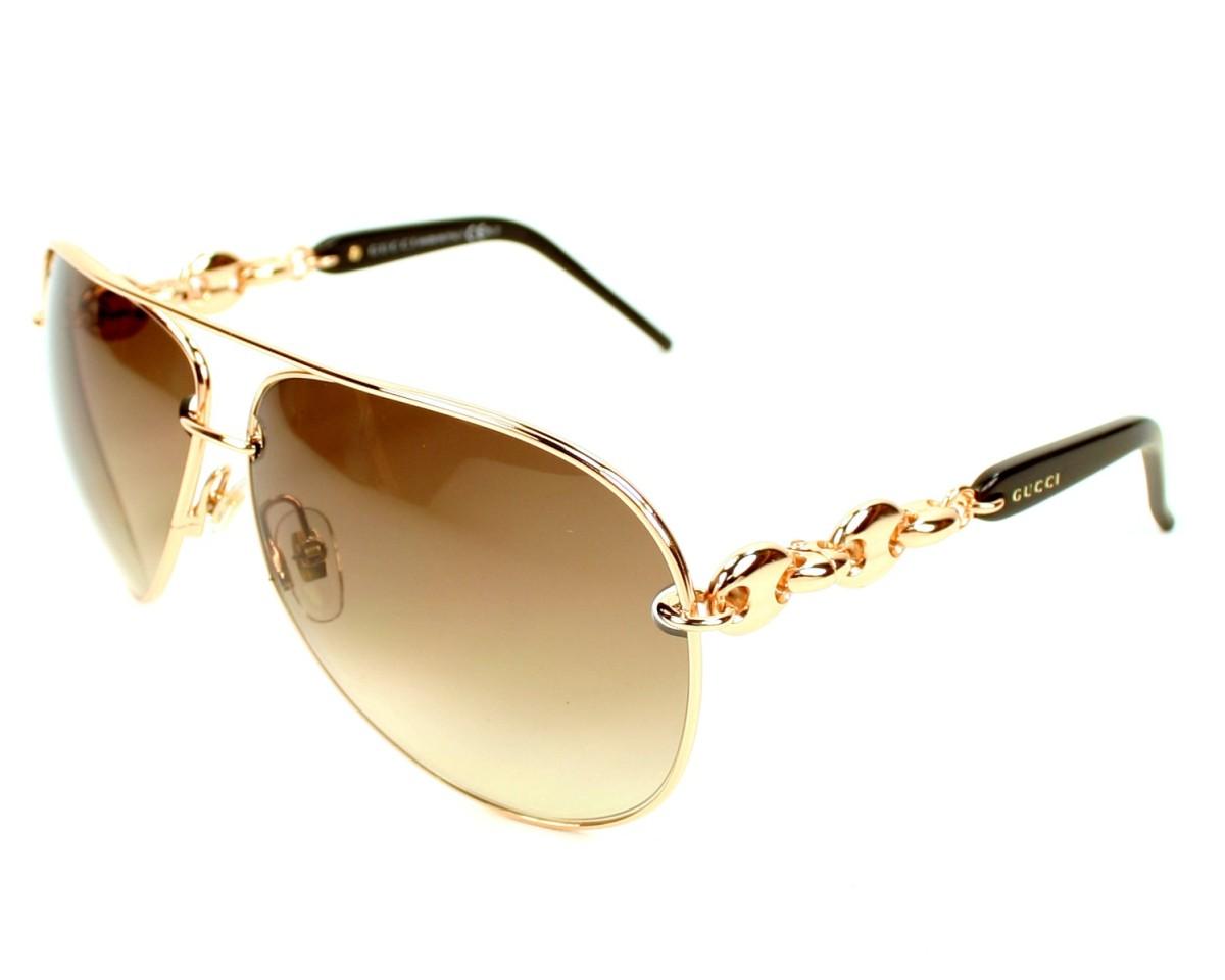 thumbnail Sunglasses Gucci GG-4225-S X5M CC - Copper Gold profile view 1006fefa7f97