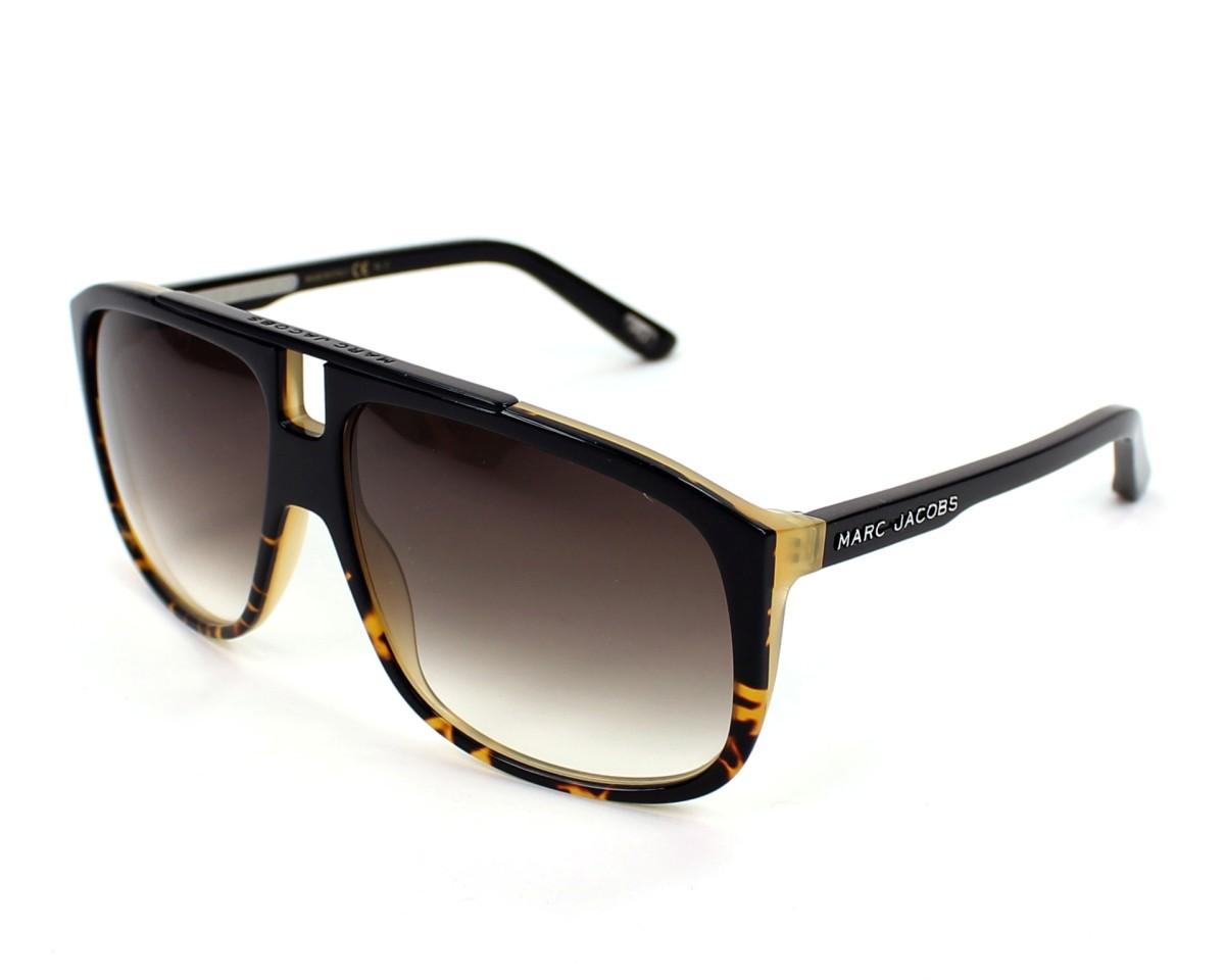 493f736b3a13 thumbnail Sunglasses Marc Jacobs MJ-252-S 0J0/JS - Black profile view