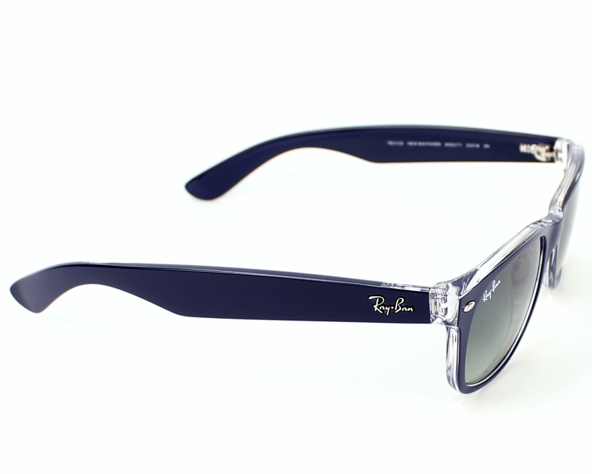 a944c4f935 Sunglasses Ray-Ban RB-2132 6053 71 52-18 Blue Crystal side