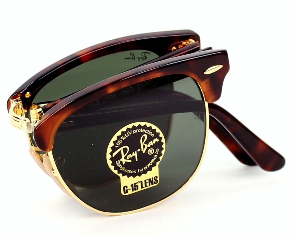 7fa33aa778eb7 Sunglasses Ray-Ban RB-2176 990 51-21 Havana Gold profile view