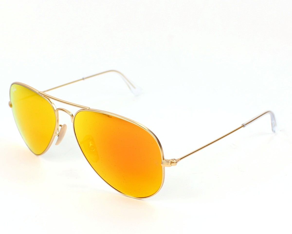 3445e017f Sunglasses Ray-Ban RB-3025 112/69 55-14 Gold profile view