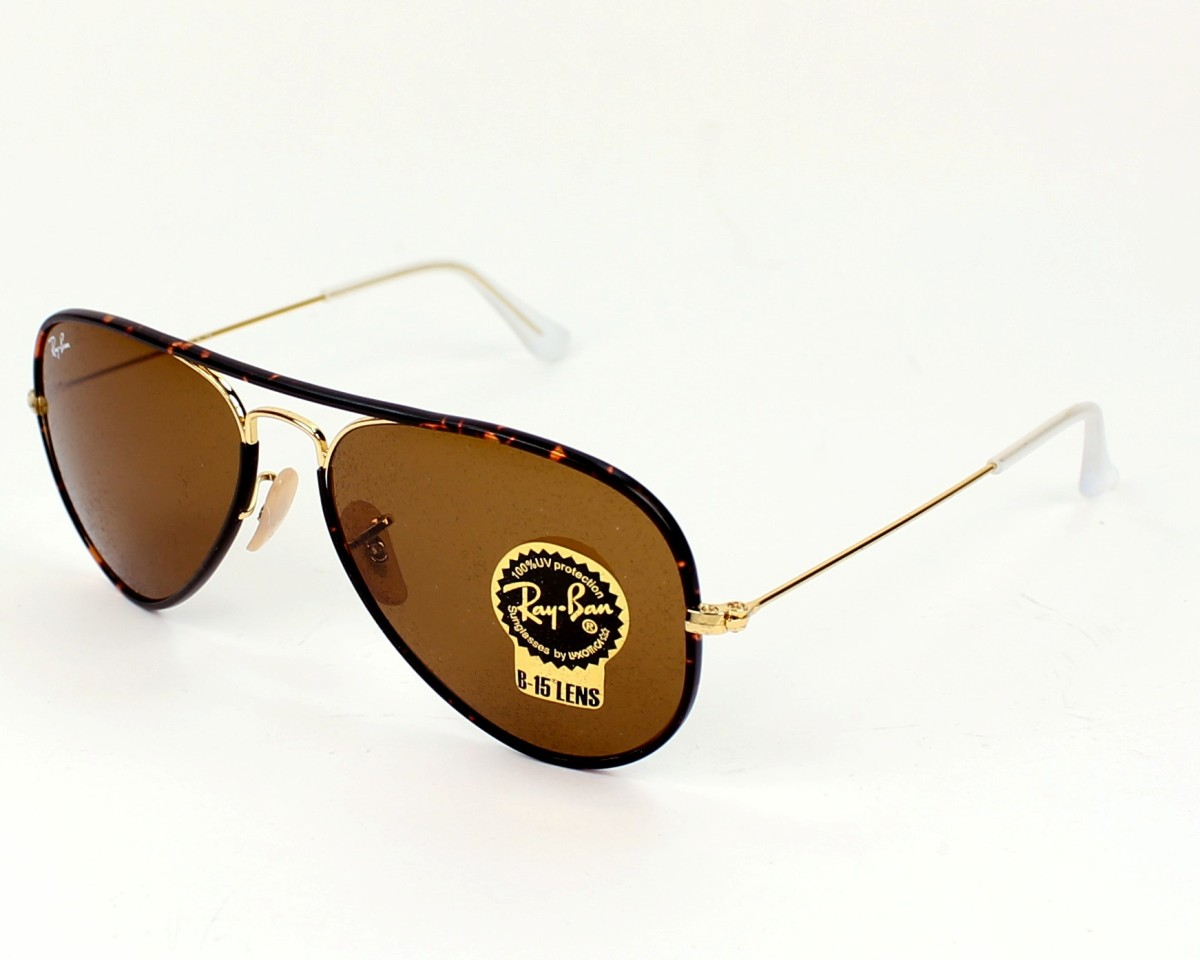 e8f0dde2b74 Sunglasses Ray-Ban RB-3025-JM 001 58-14 Gold Brown profile