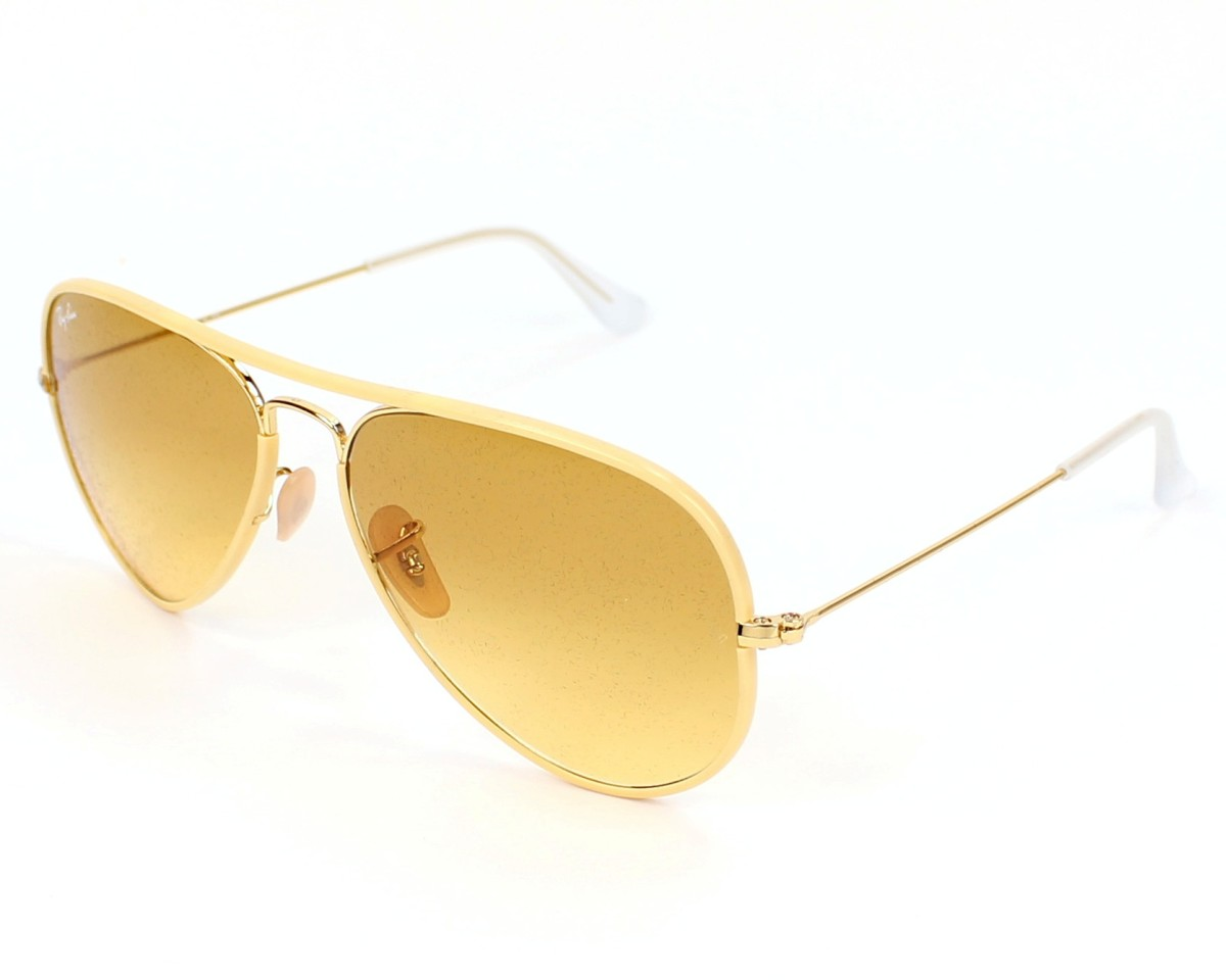 f371bcc2d86 Sunglasses Ray-Ban RB-3025-JM 001 X4 - Yellow Gold profile