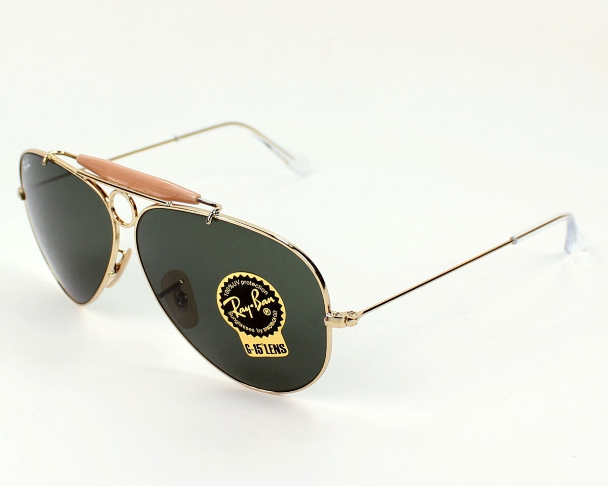 c2398031871 Sunglasses Ray-Ban RB-3138 001 58-9 Gold Pink profile view