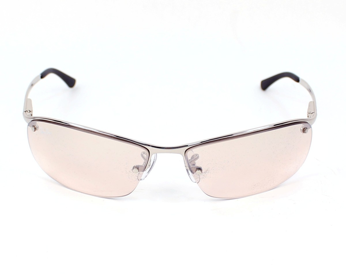 51b48a7868 thumbnail Sunglasses Ray-Ban RB-3183 003 8Z - Silver front view