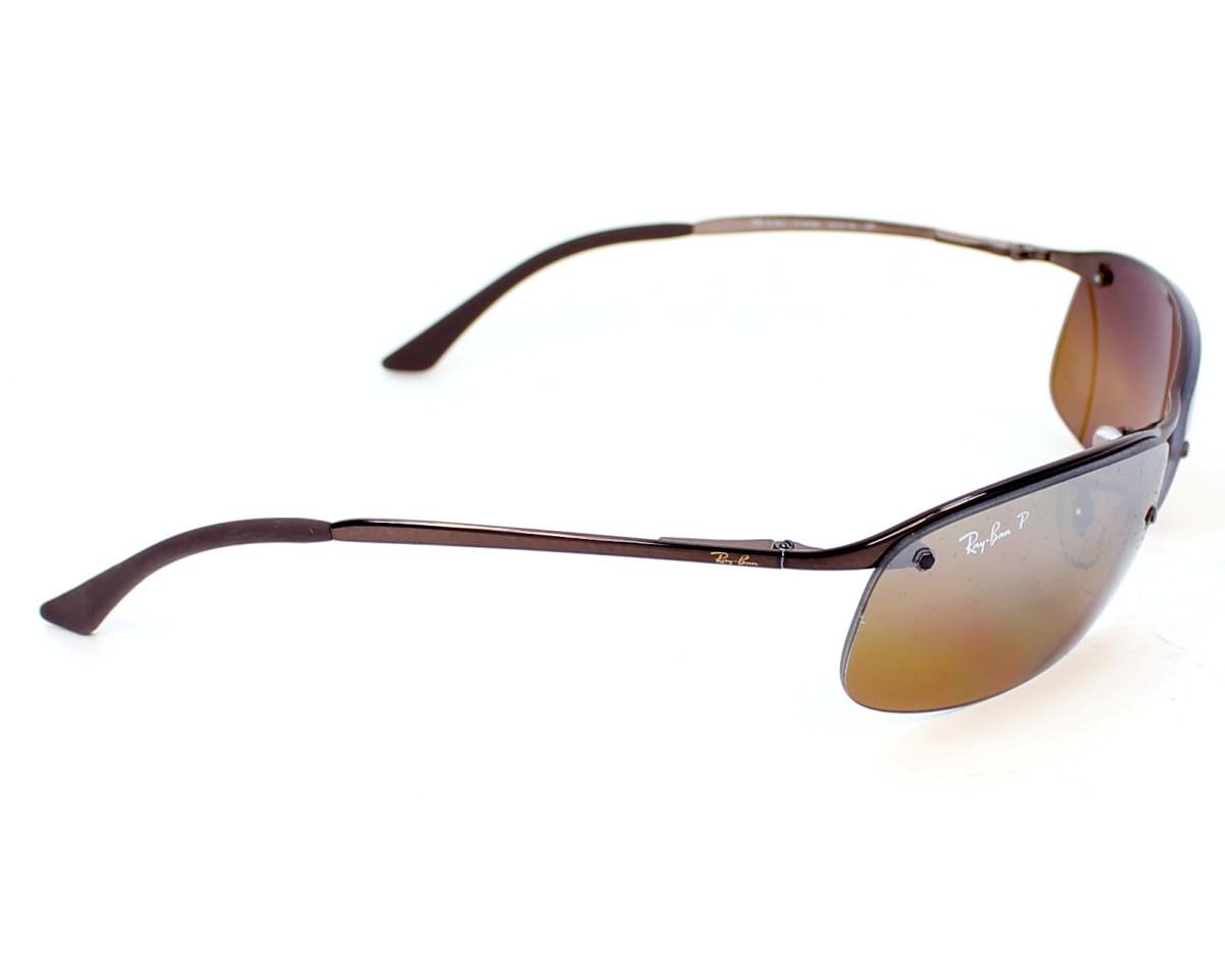 98bb4e54c7d4e1 thumbnail Sunglasses Ray-Ban RB-3183 014 84 - Brown side view