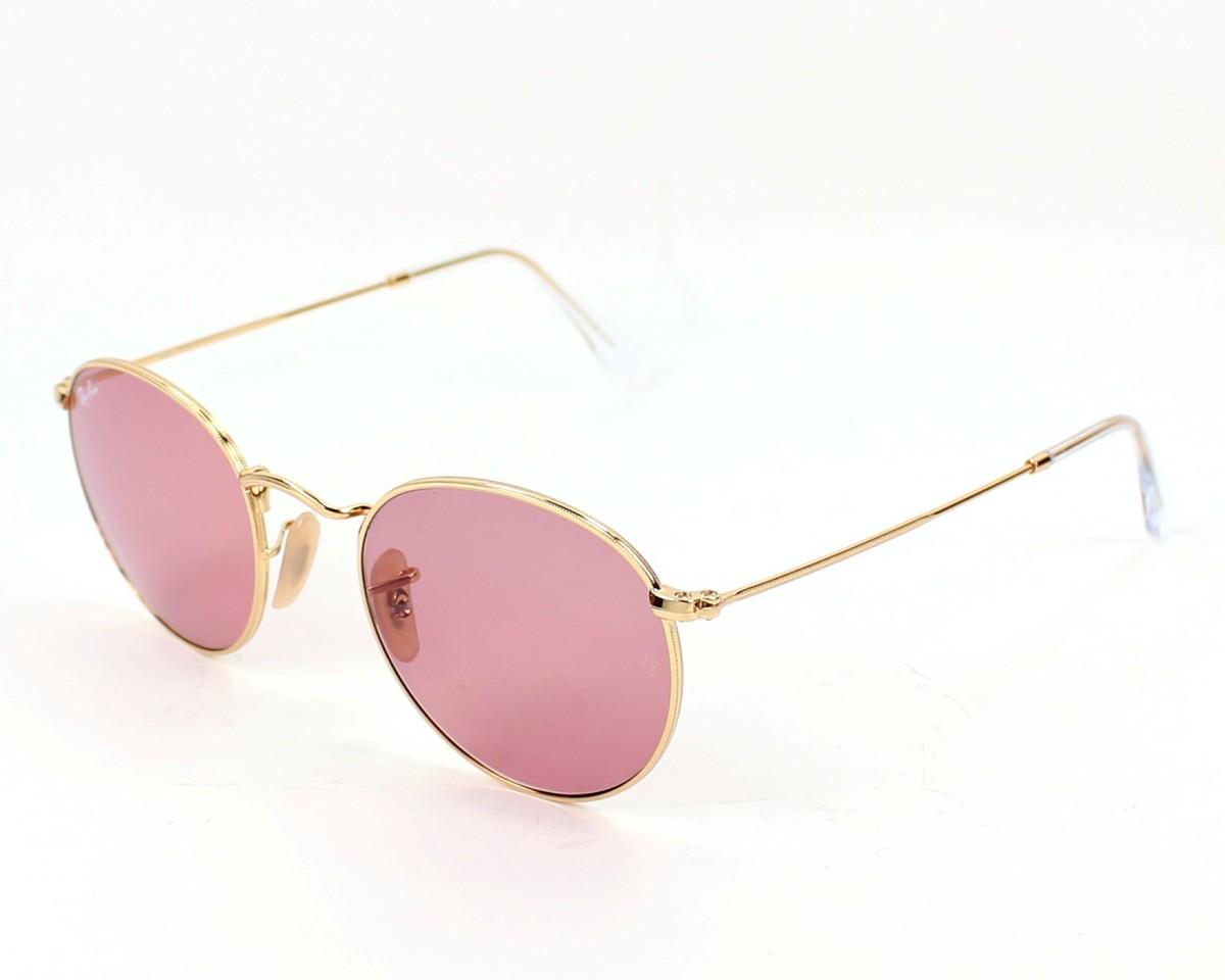 thumbnail Sunglasses Ray-Ban RB-3447 001 4B - Gold profile view 0c77c15469a9