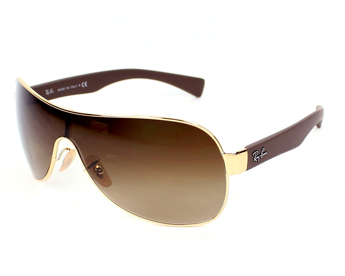 d654c0b3df Sunglasses Ray-Ban RB-3471 001 13 32- Gold Brown profile view
