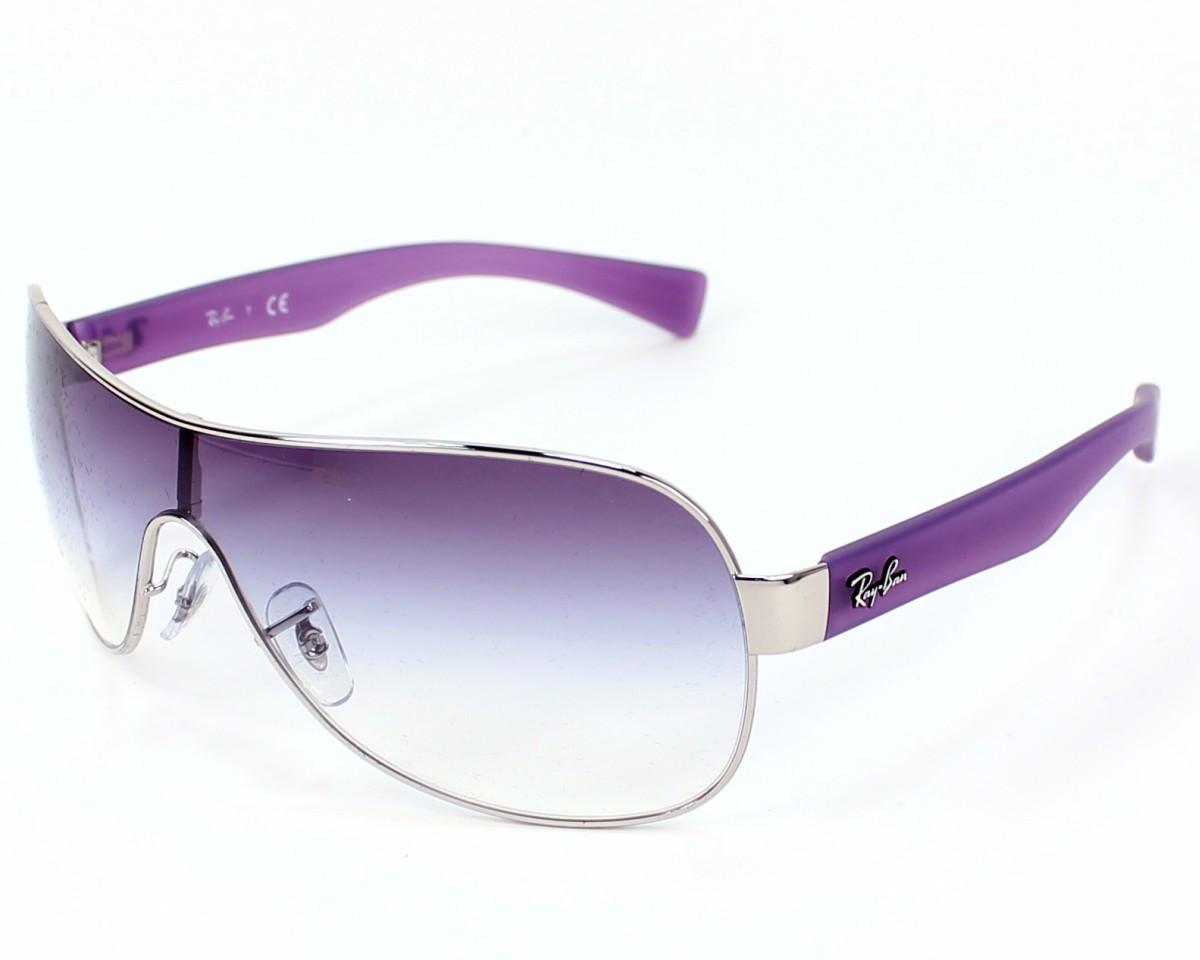 1b4339962b thumbnail Sunglasses Ray-Ban RB-3471 003 8H - Silver Purple profile view