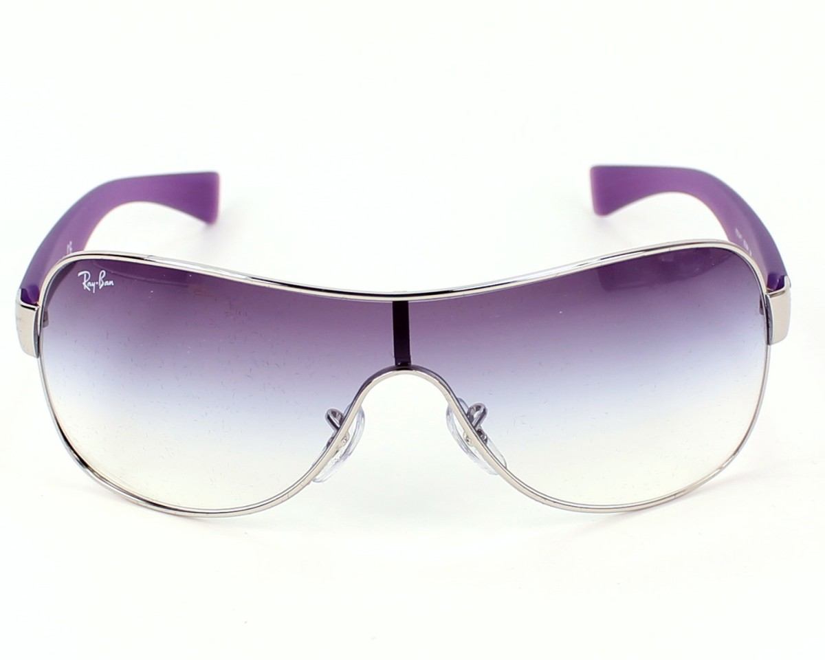 a98064ee18 thumbnail Sunglasses Ray-Ban RB-3471 003 8H - Silver Purple front view