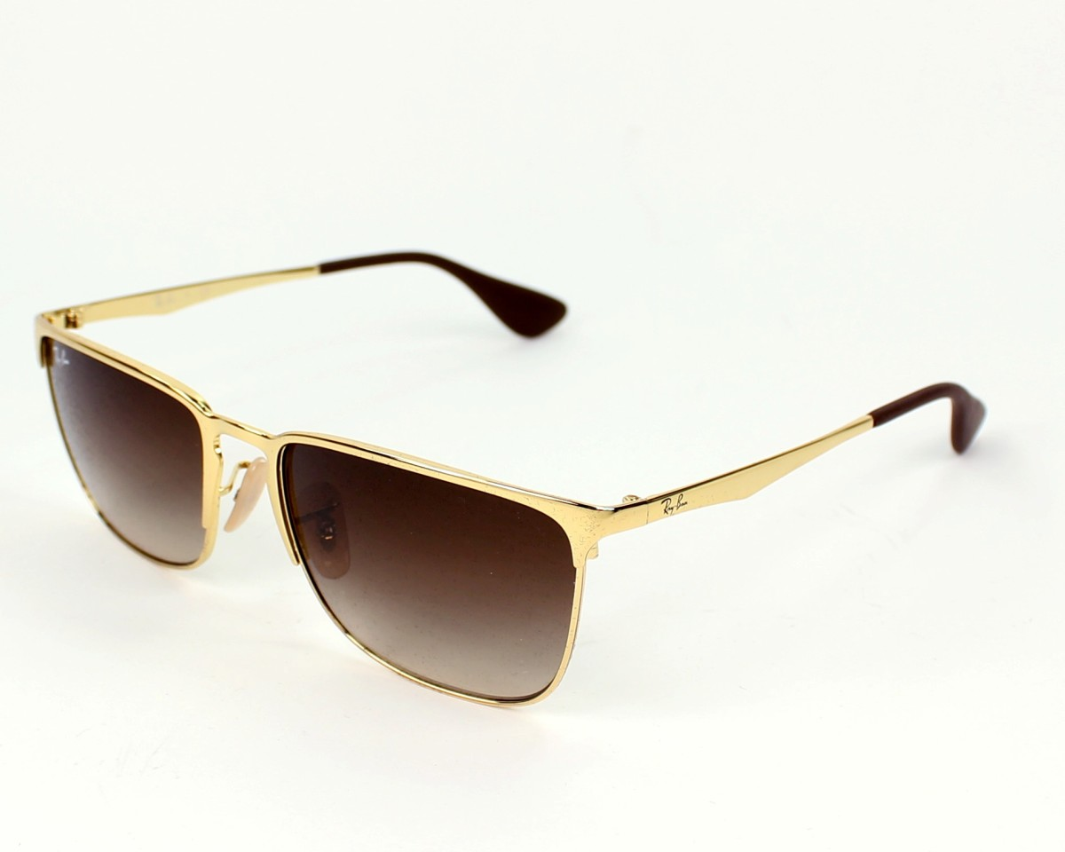 thumbnail Sunglasses Ray-Ban RB-3508 001 13 - Gold profile view 385813ae05