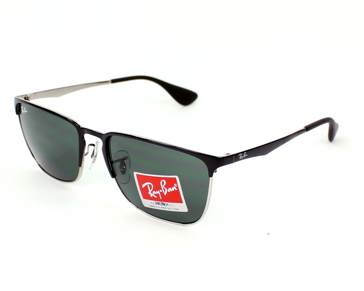 059168c523 thumbnail Sunglasses Ray-Ban RB-3508 135 71 - Silver Black profile view