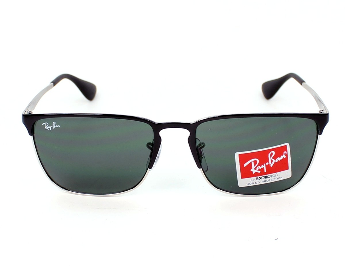ce23143e86 thumbnail Sunglasses Ray-Ban RB-3508 135 71 - Silver Black front view