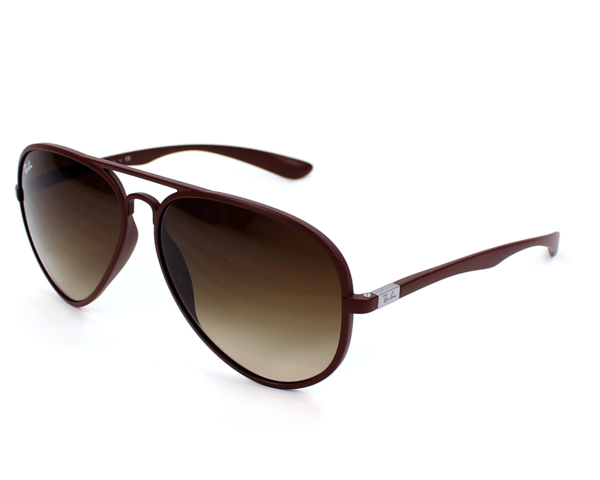989ffb0b6b8 thumbnail Sunglasses Ray-Ban RB-4180 881 13 - Brown profile view