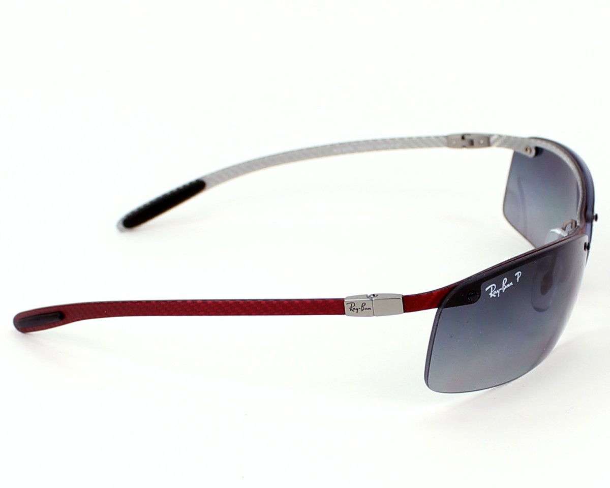 7449a8e2cc267d thumbnail Sunglasses Ray-Ban RB-8305 142 T3 - Red Silver side view