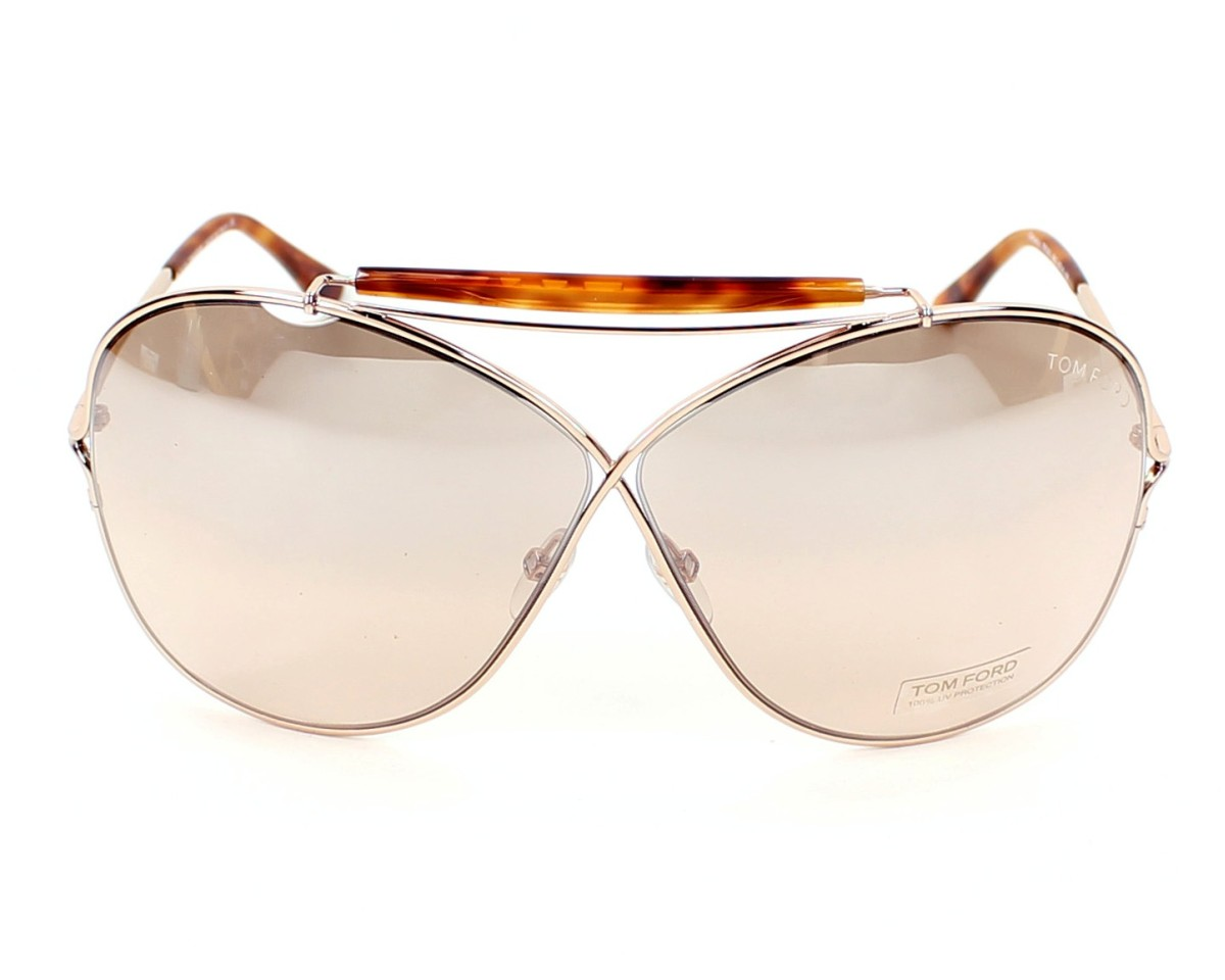 581cd142266b8 Sunglasses Tom Ford TF-200 28G - Gold White front view