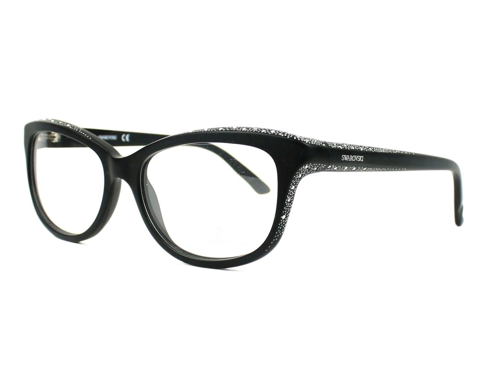 827ef73ceb eyeglasses Swarovski SW-5100 002 - Black Silver profile view