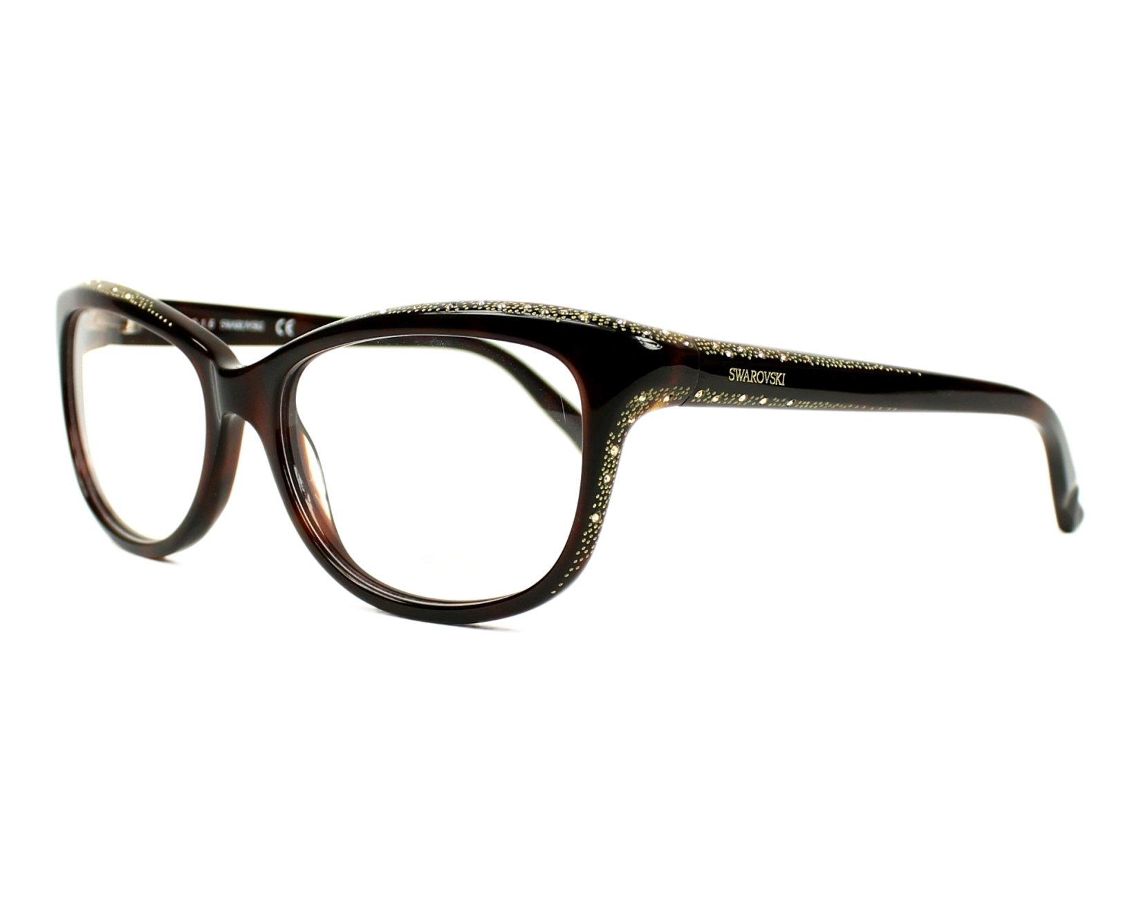 d270235585 eyeglasses Swarovski SW-5100 052 - Havana Gold profile view