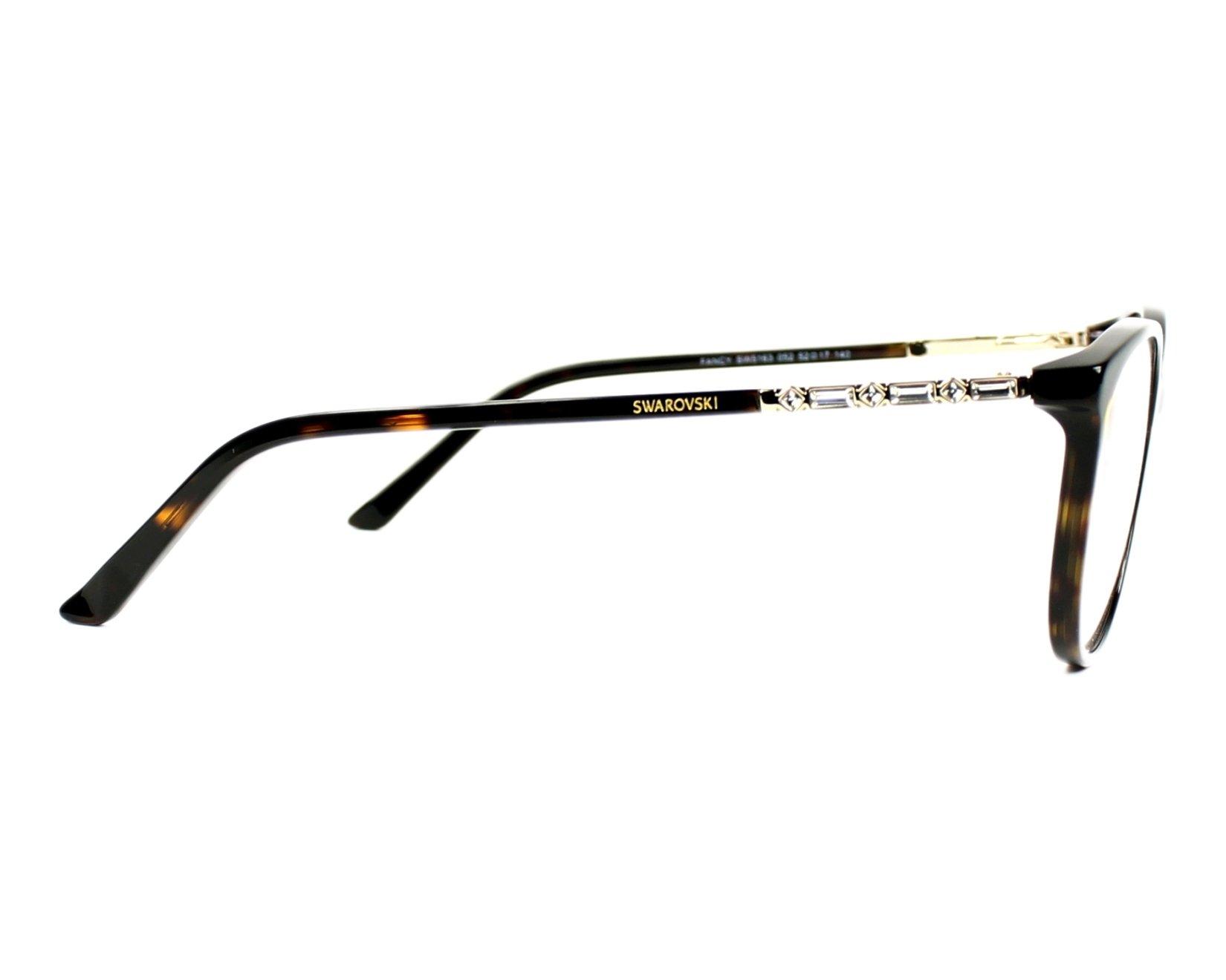 84e0e82a5bf4 eyeglasses Swarovski SW-5163 052 52-17 Havana side view