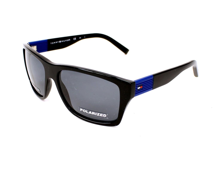 cedf2eb964 Polarized. Sunglasses Tommy Hilfiger TH-1193-S D28 RA - Black Blue profile  view