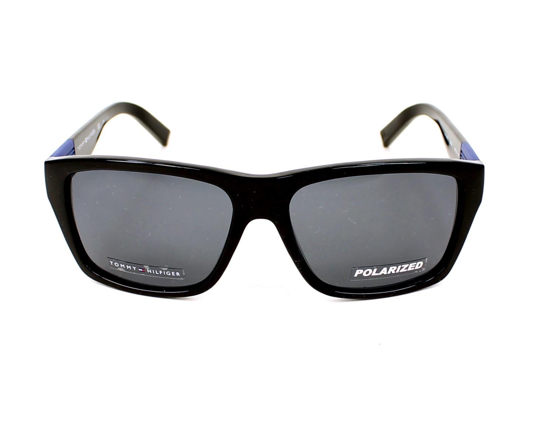 ea87535770 Sunglasses Tommy Hilfiger TH-1193-S D28 RA - Black Blue front view
