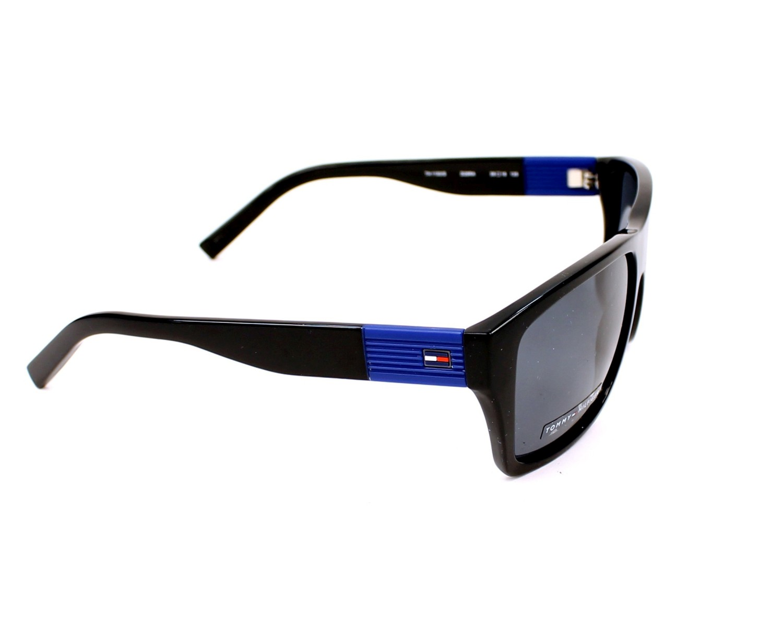 70228df77f Sunglasses Tommy Hilfiger TH-1193-S D28 RA - Black Blue side view