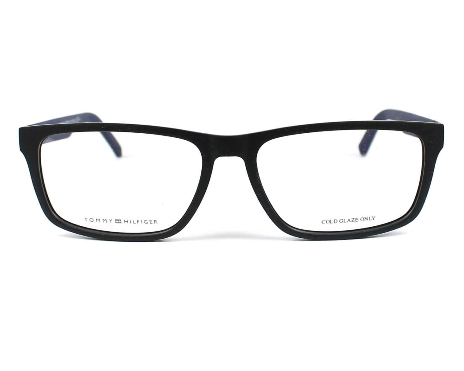 6cde3937eaf eyeglasses Tommy Hilfiger TH-1404 R5Y 55-16 Black Blue denim front view