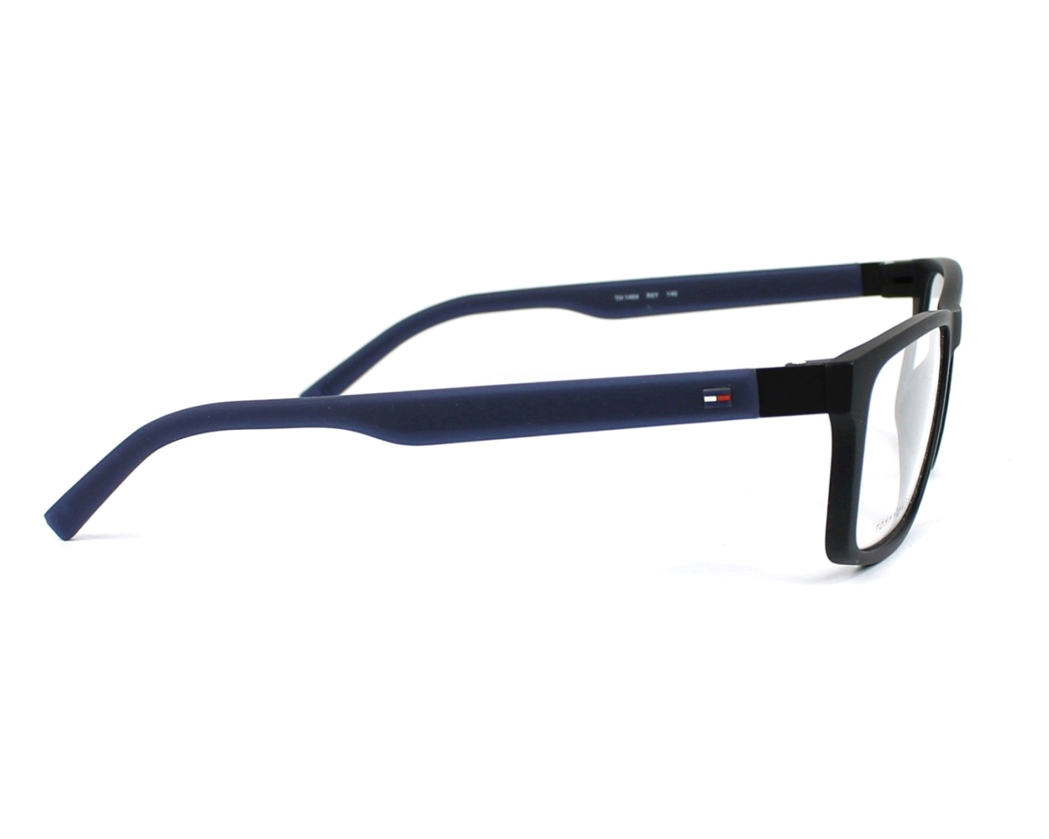 4f330174f42 eyeglasses Tommy Hilfiger TH-1404 R5Y 55-16 Black Blue denim side view