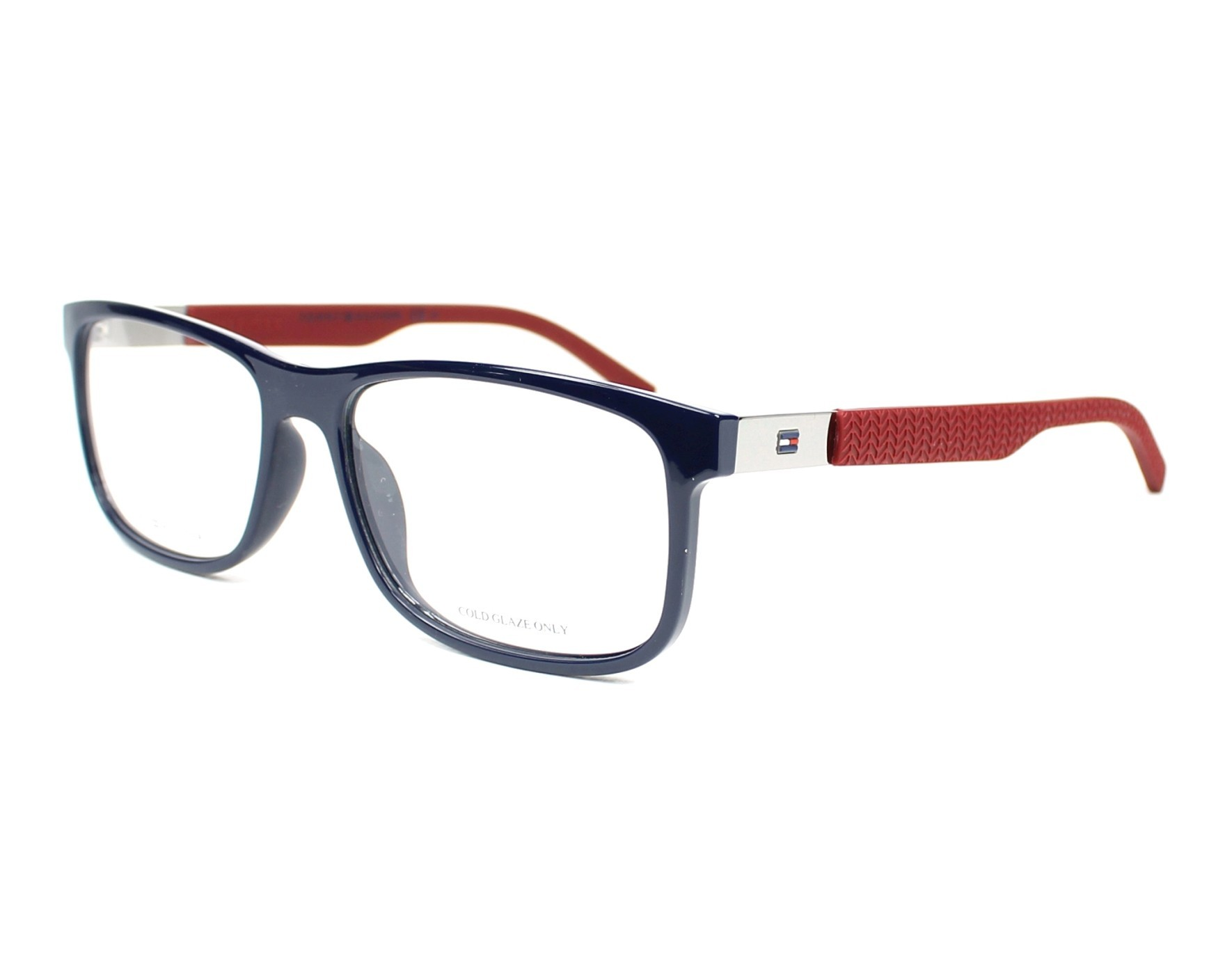 75b3be9e994ce eyeglasses Tommy Hilfiger TH-1446 LCN 55-16 Blue Bordeaux profile view