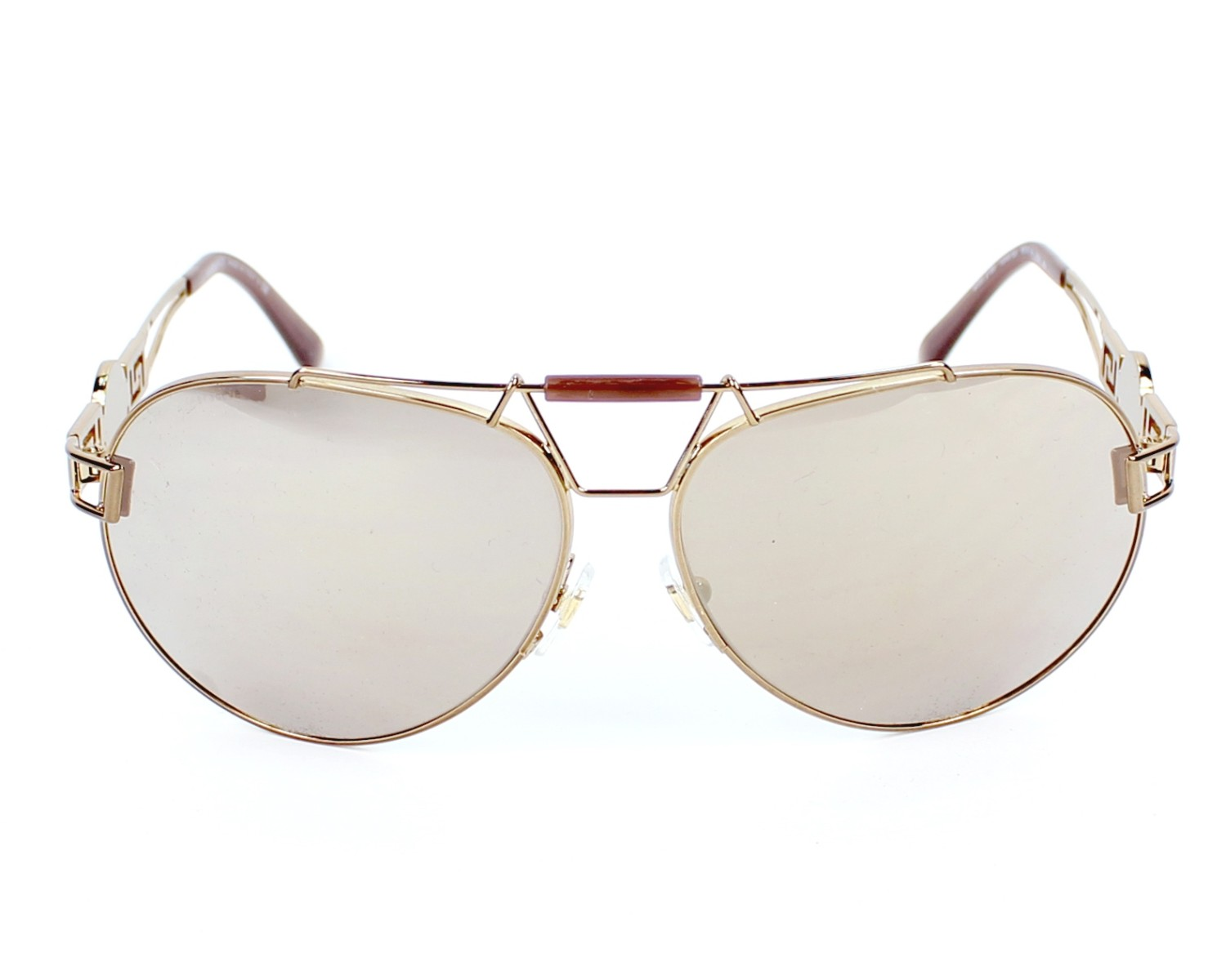 2b0f429248 Sunglasses Versace VE-2160 1348 5A 63-14 Gold front view