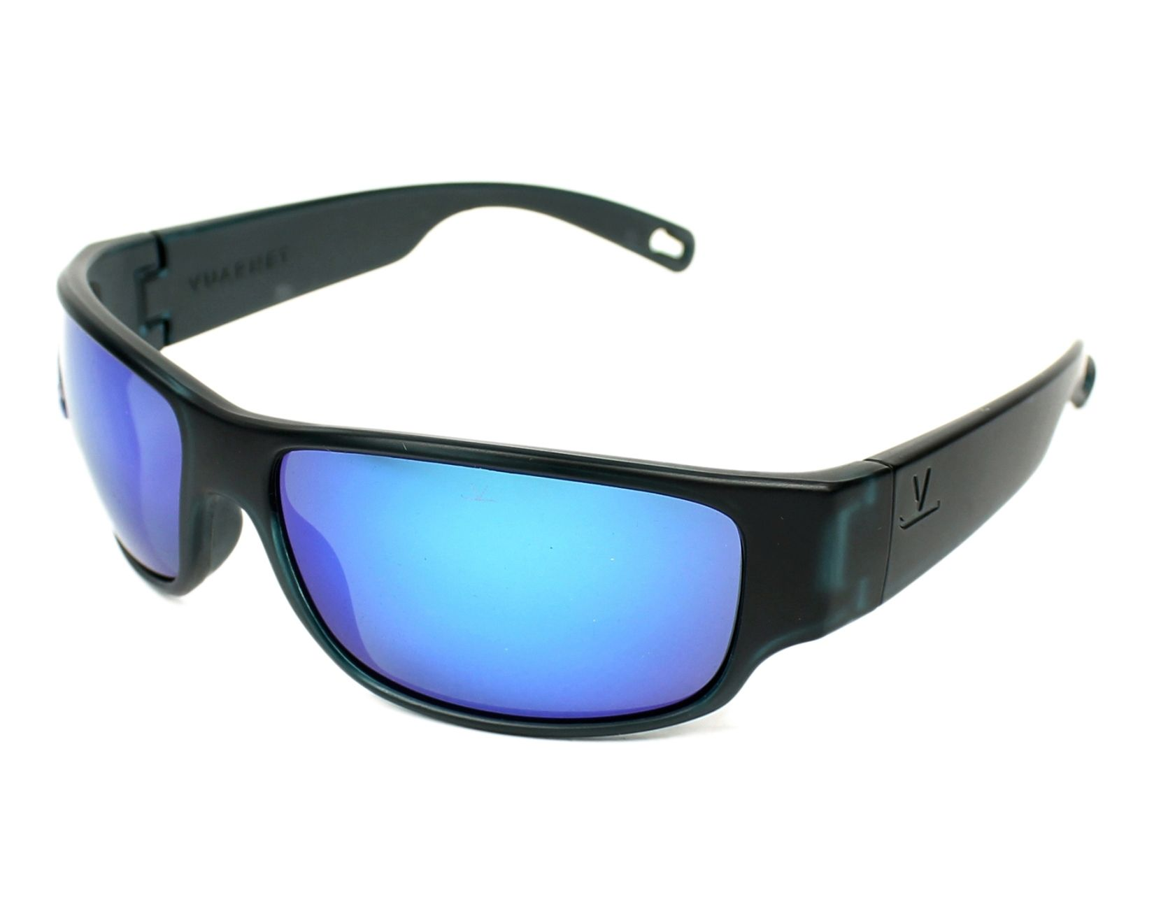 6734420826 Sunglasses Vuarnet VL-1621 0006-1626 65-17 Black Grey profile view