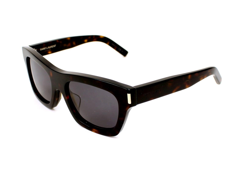 f54a48a7247 thumbnail Sunglasses Yves Saint Laurent BOLD-4-F 086Y1 - Havana profile view