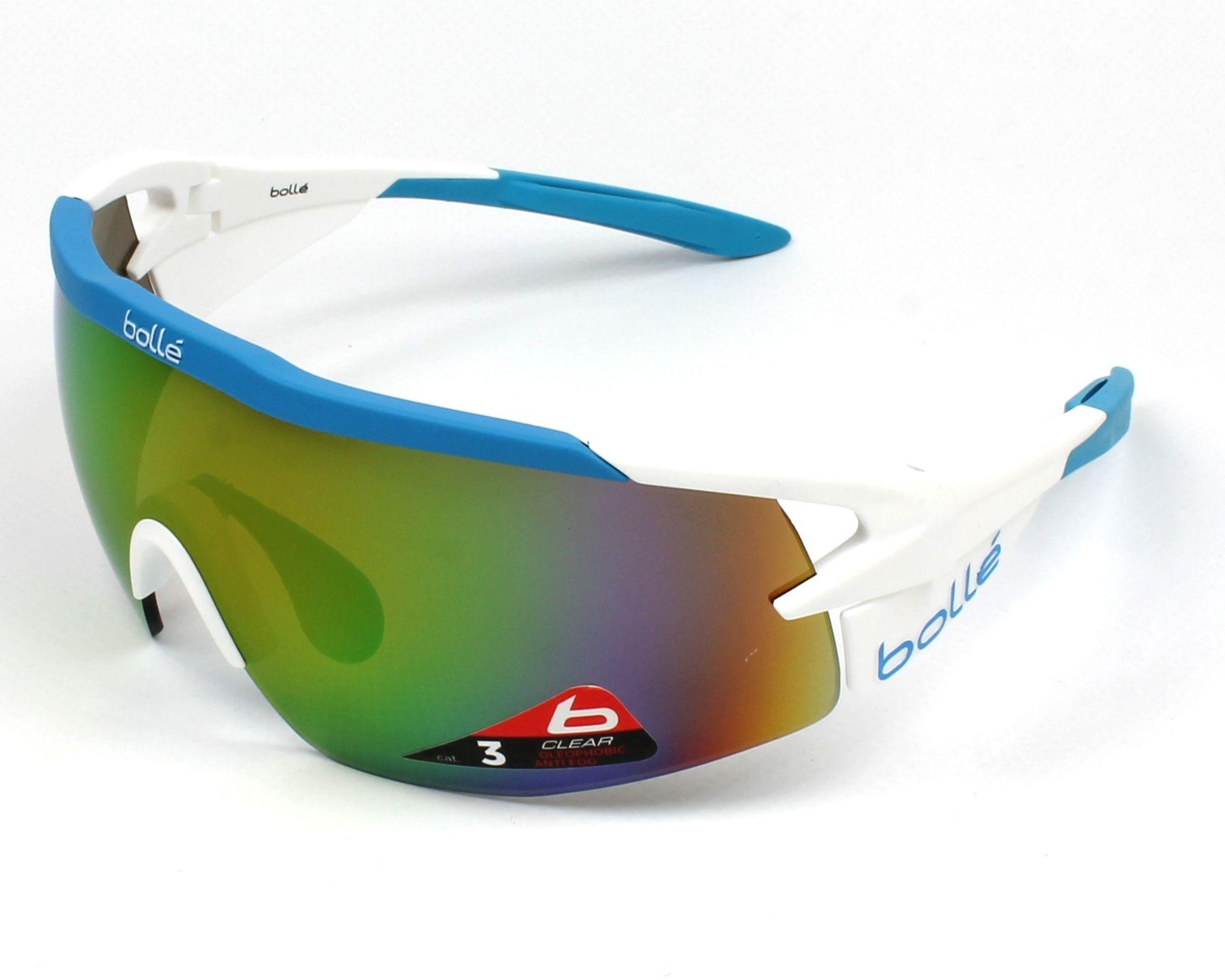 a00472f23f Sunglasses Bollé AEROMAX 12309 74-18 White Blue profile view