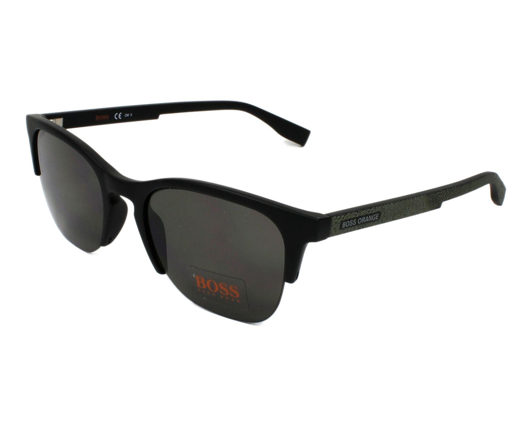 Boss Orange BO 0290/S 807/IR 53 black / grey blue haEb3y3t3