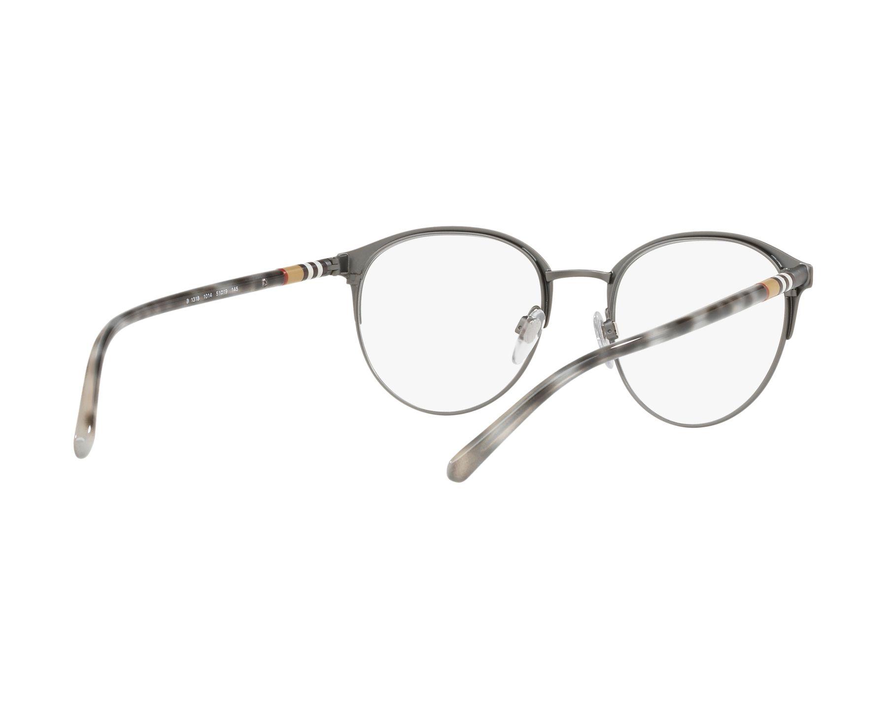 eyeglasses Burberry BE-1318 1014 51-19 Gun Grey 360 degree view 8