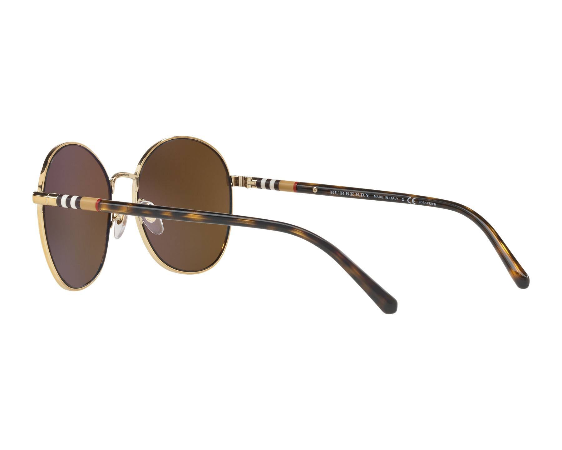 1991964991a Sunglasses Burberry BE-3094 11452O 56-17 Gold Havana 360 degree view 5