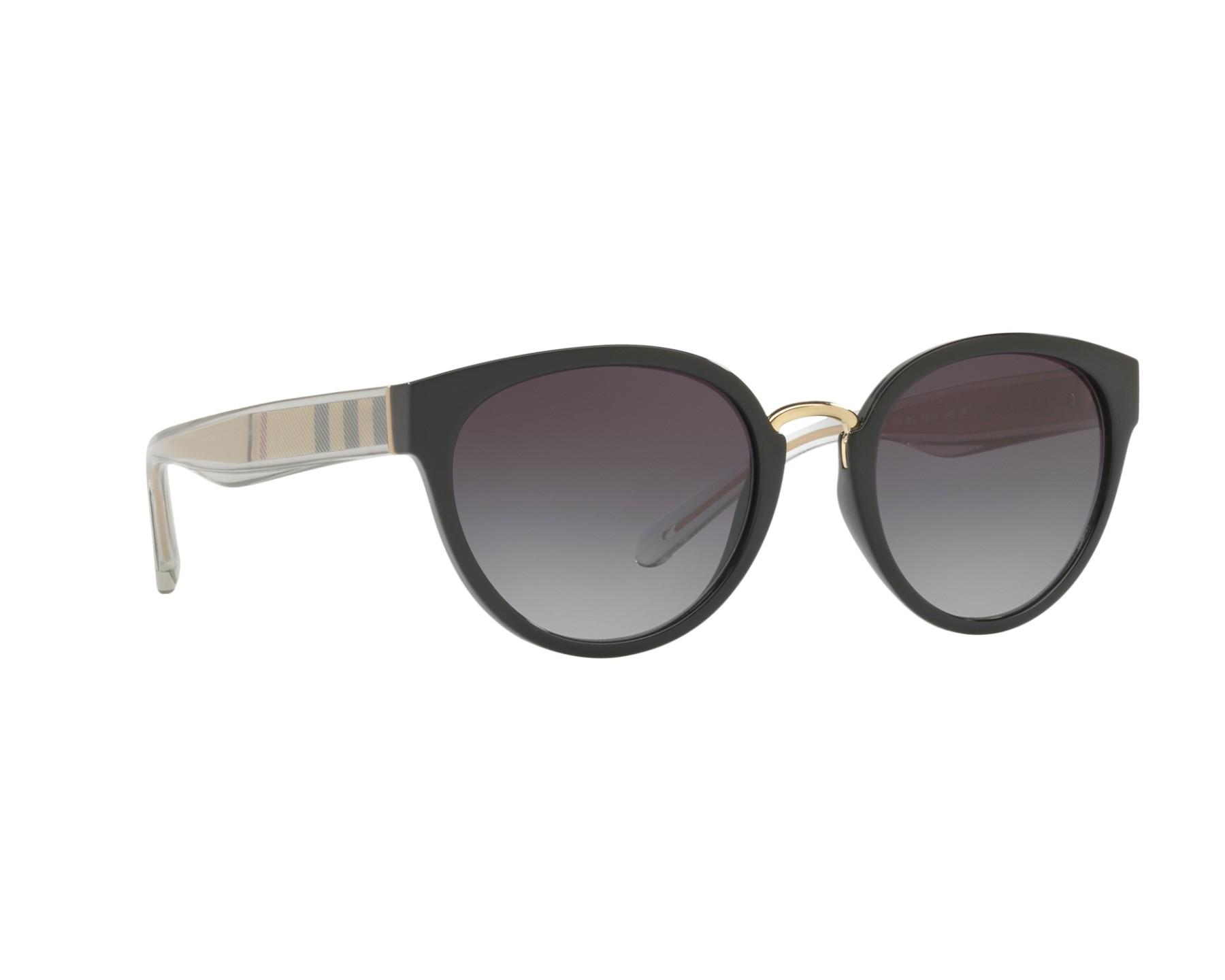 e53a551e62a Sunglasses Burberry BE-4249 30018G 53-21 Black Gold 360 degree view 12