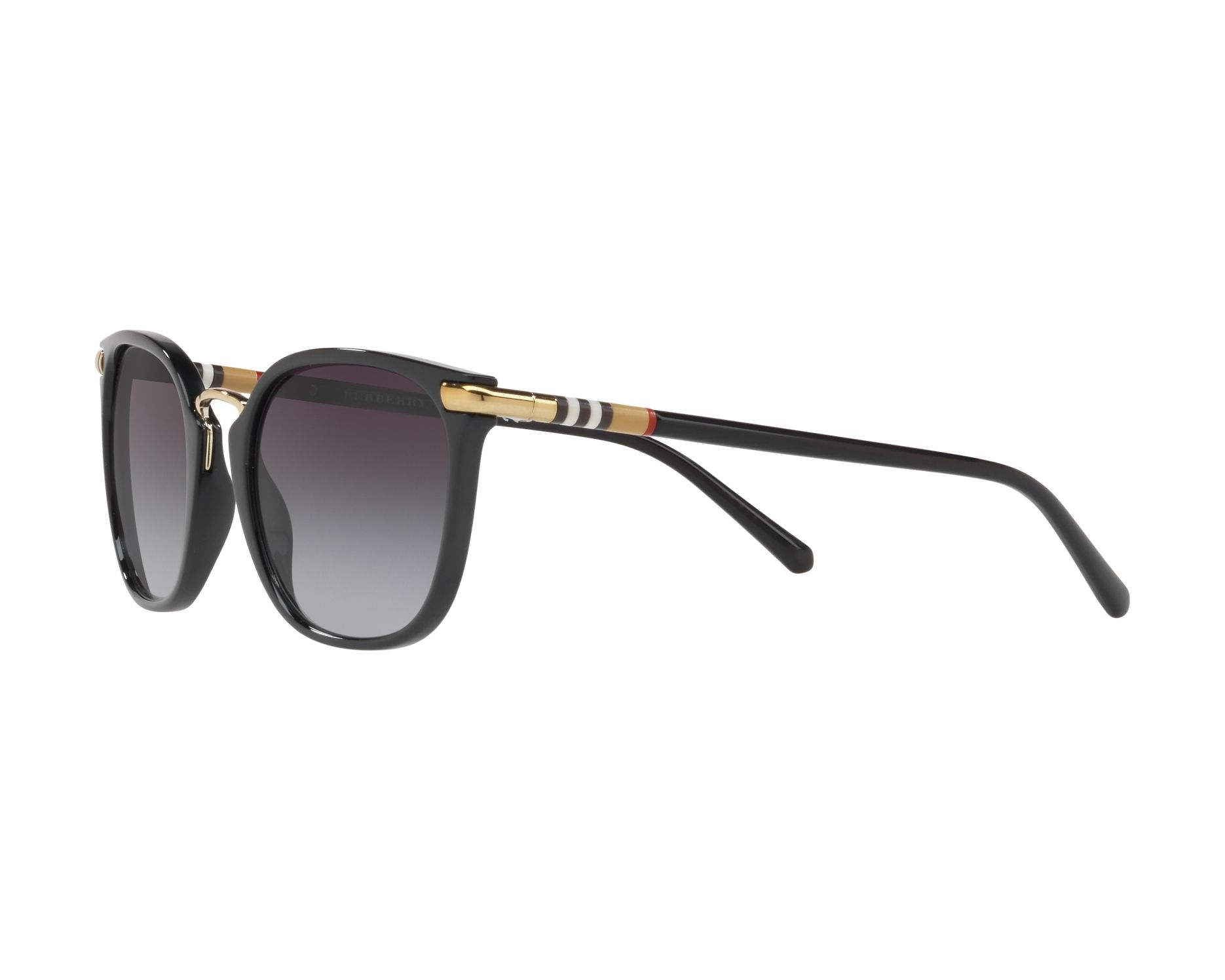 2257d09068 Sunglasses Burberry BE-4262 30018G 53-21 Black Gold 360 degree view 3