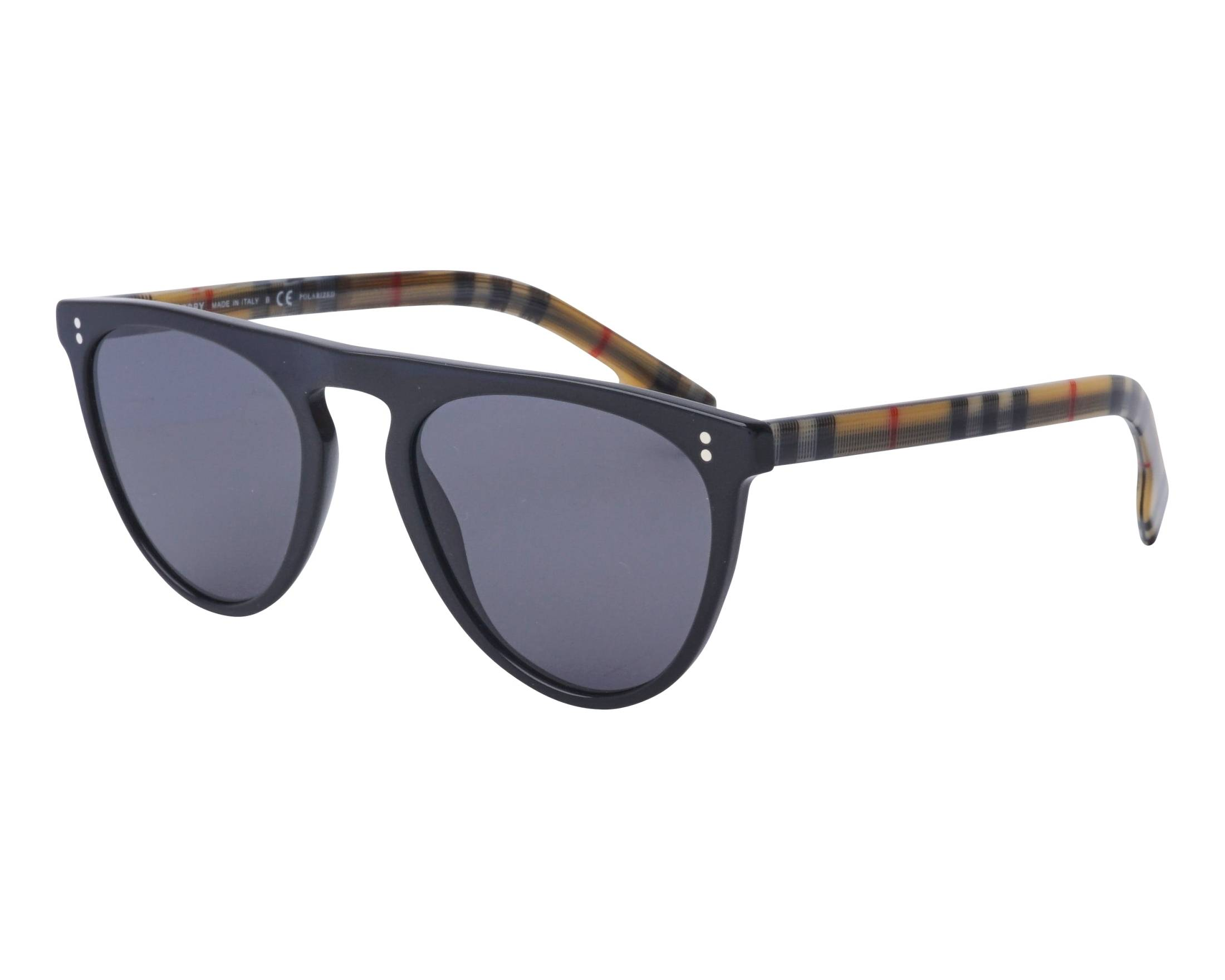 5a46d8fd305e Sunglasses Burberry BE-4281 375781 54-21 Black Beige profile view