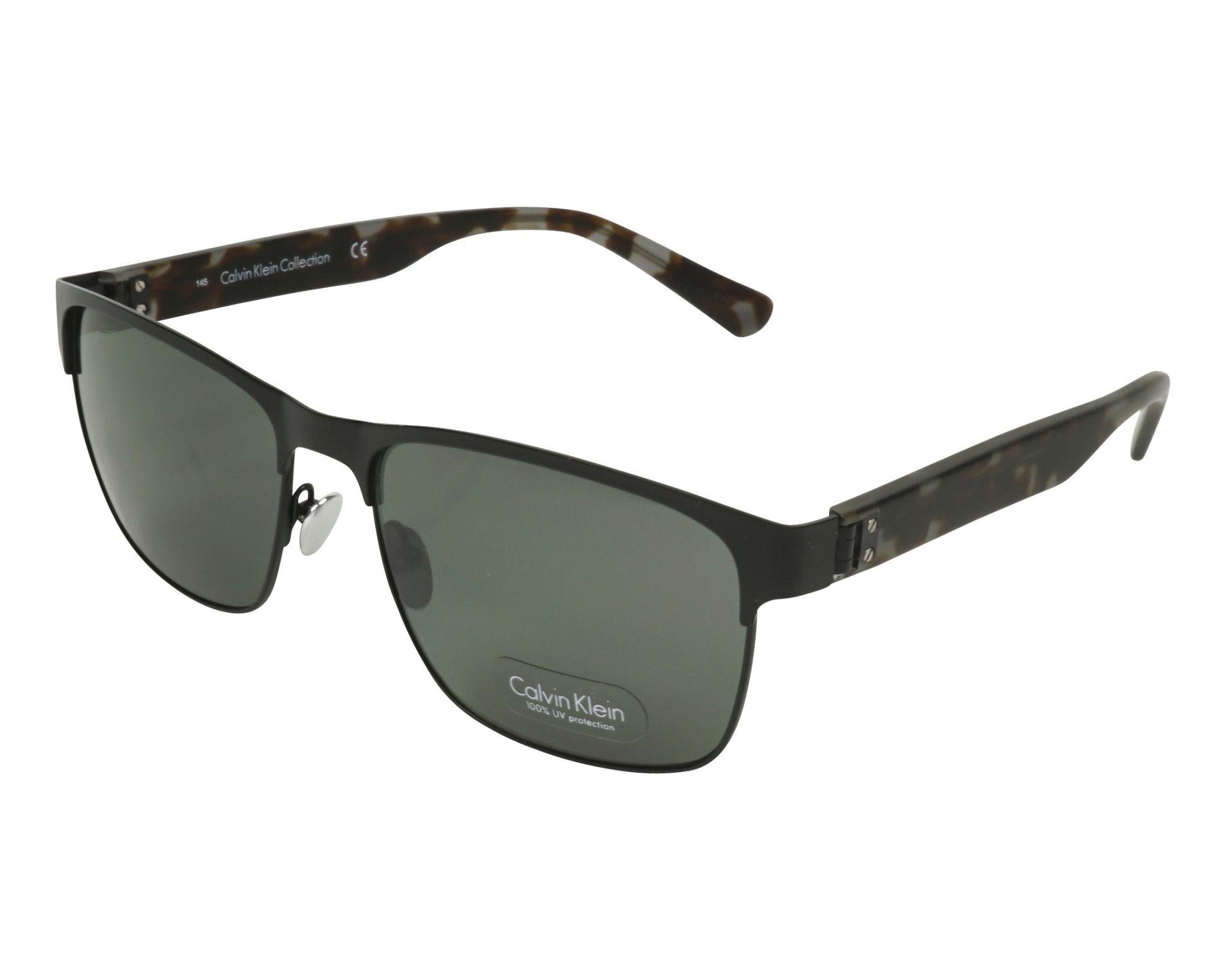 8b2cc4e71f Sunglasses Calvin Klein CK-7378-S 001 58-17 Black Brown profile view
