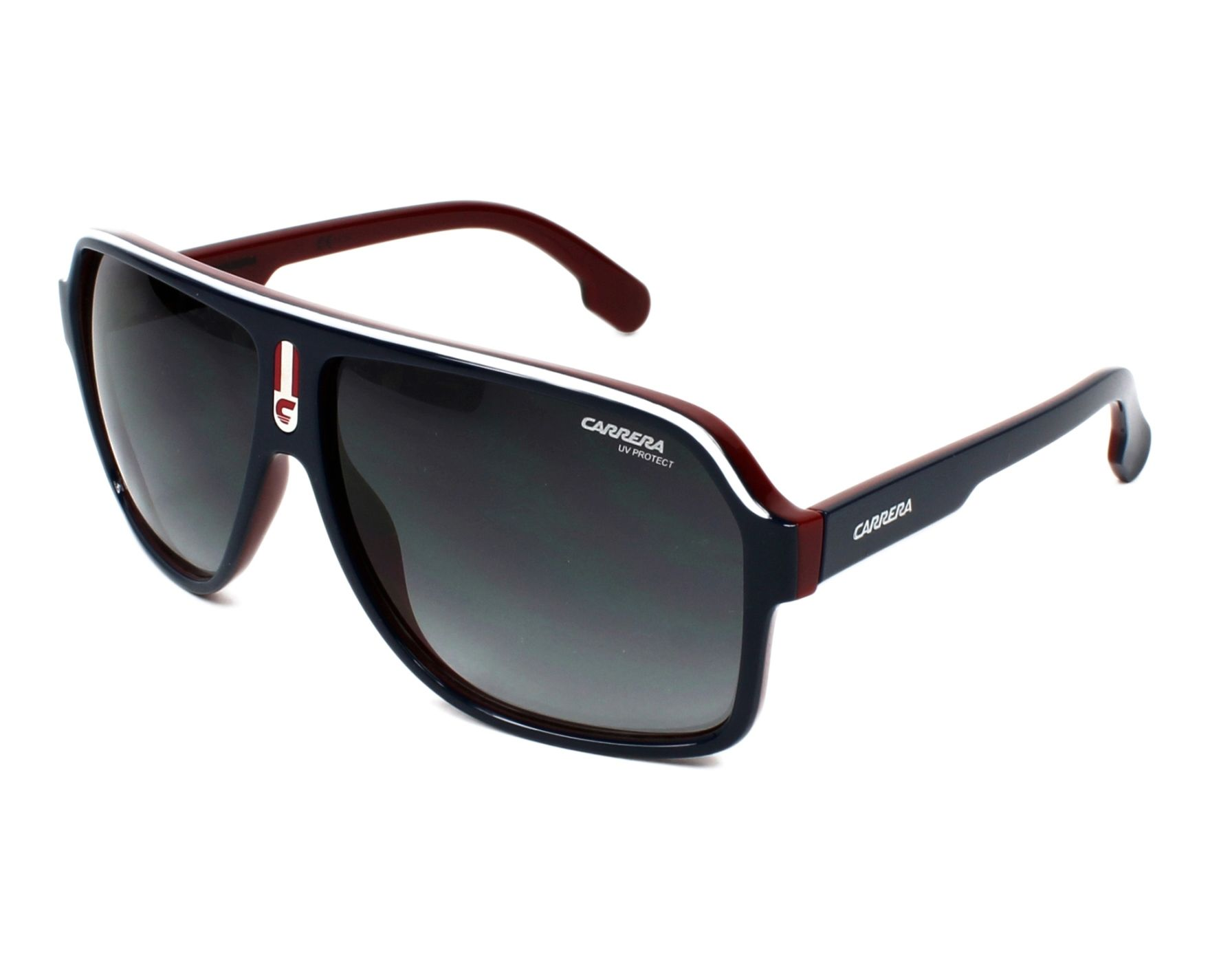 Sunglasses Carrera 1001-S 8RU 9O 62-11 Blue Bordeaux profile view 412c4e18ecc2