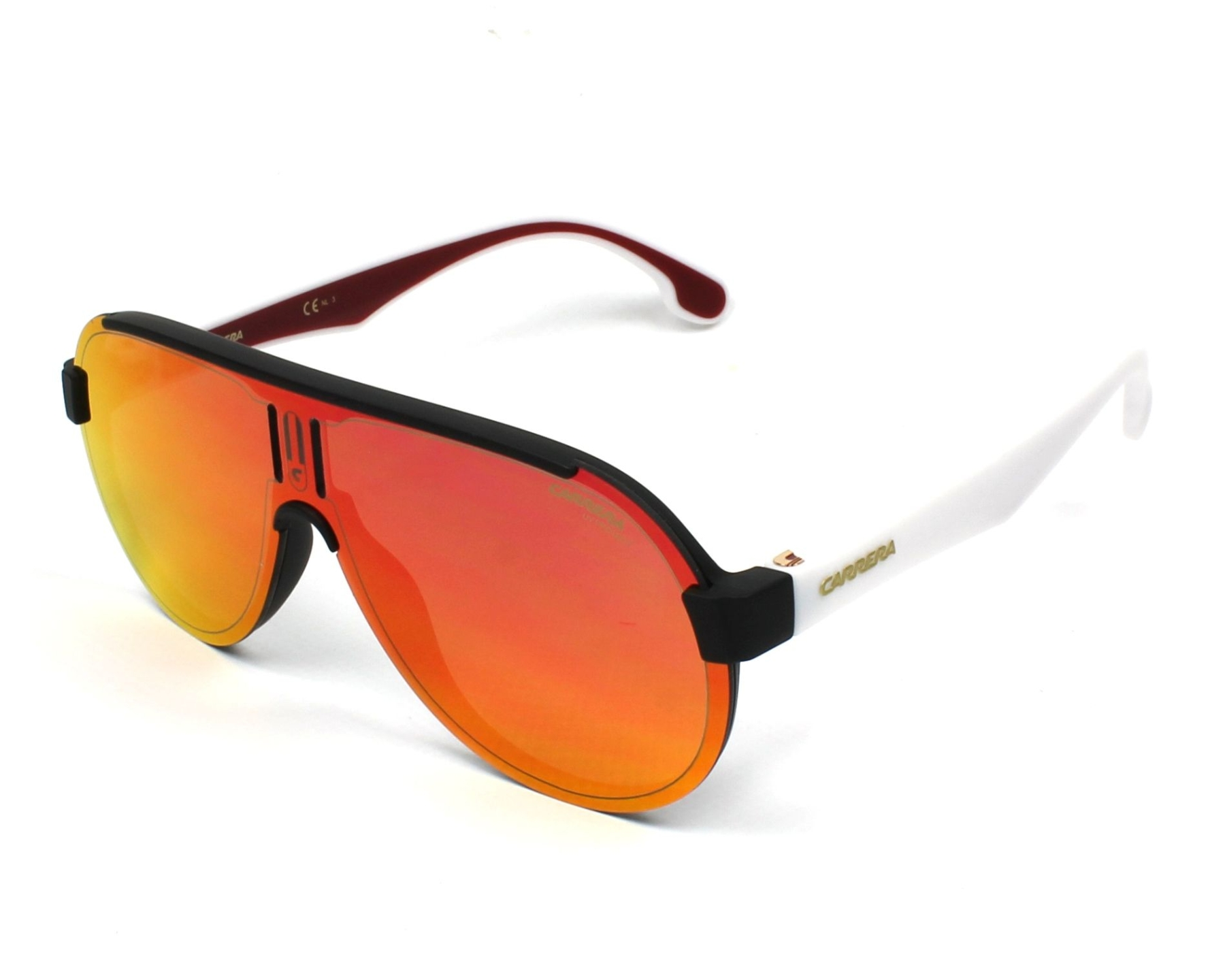 d537a0e1e09 Sunglasses Carrera 1008-S 4NL/UZ - Black White profile view