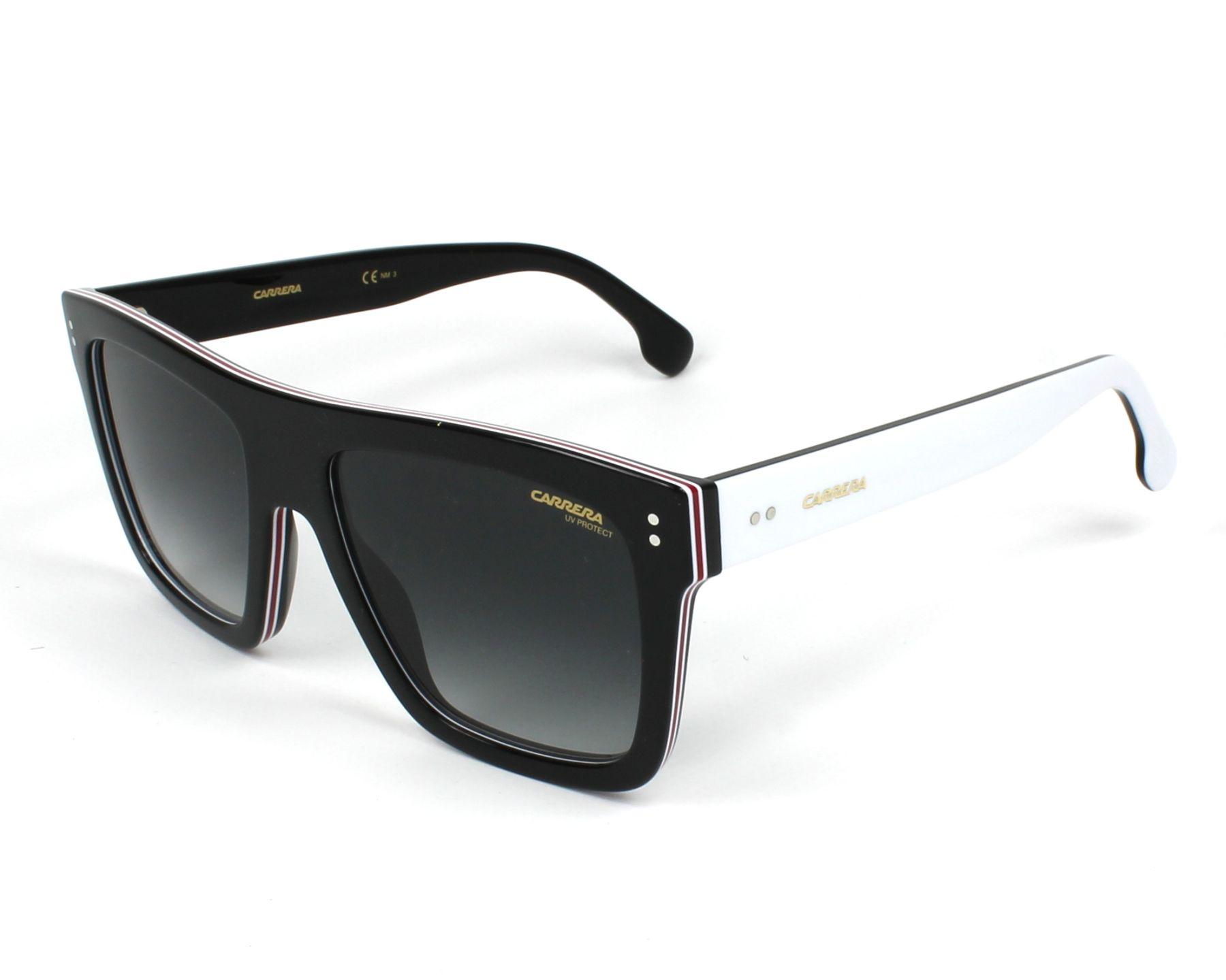 de7f7810459 Sunglasses Carrera 1010-S 807 9O 55-18 Black White profile view
