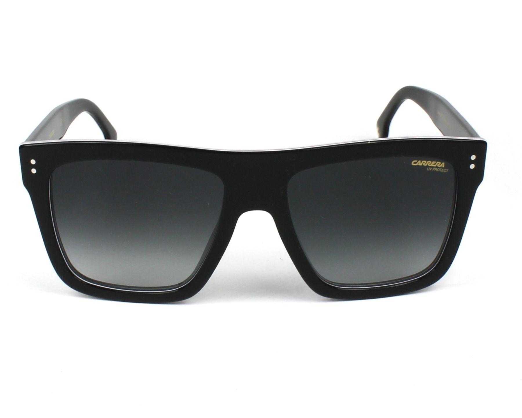 d0e30e83fa8 Sunglasses Carrera 1010-S 807 9O 55-18 Black White front view