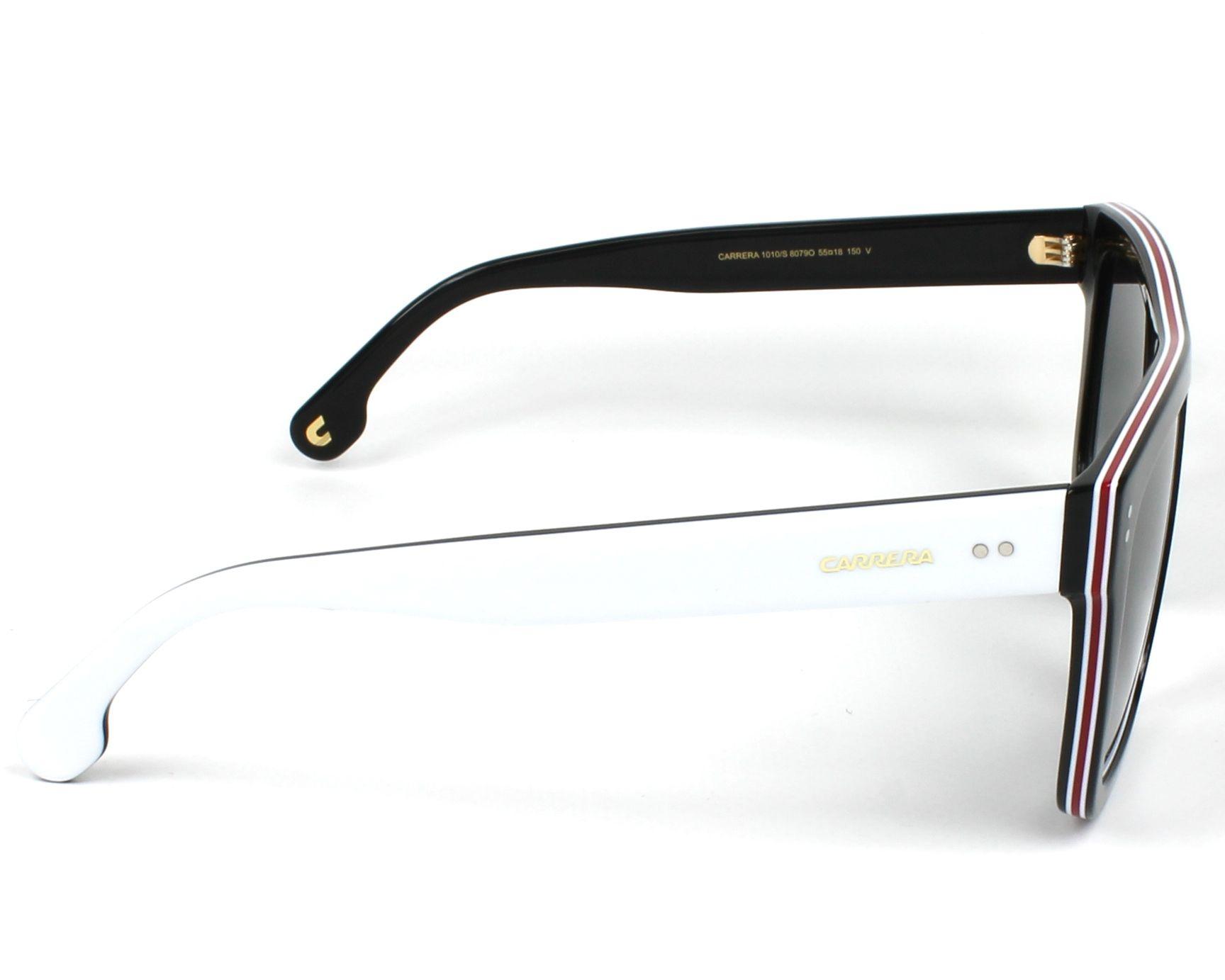 a7b0e75e9ca Sunglasses Carrera 1010-S 807 9O 55-18 Black White side view